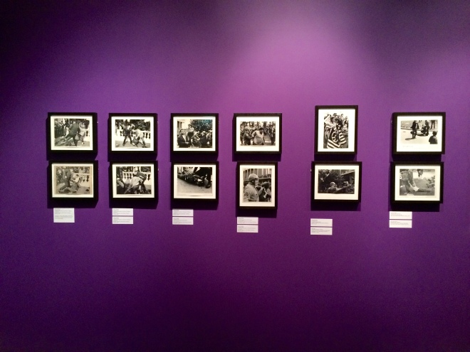 This specific part of the collection showcases a variety of student protests and police brutality.